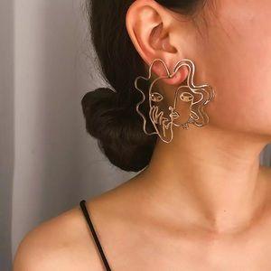 Picasso Women's Face Earrings